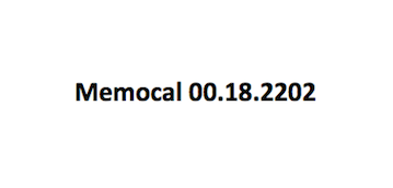 Memocal 00.18.2202