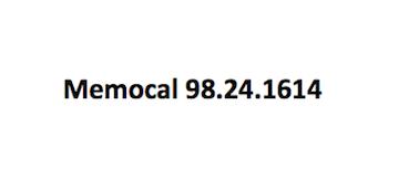 Memocal 98.24.1614